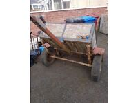 Small Trailer ideal for rubbish dumping and clearing.