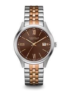 Caravelle New York Men's 45B139 Analog Display Quartz Two Tone Watch