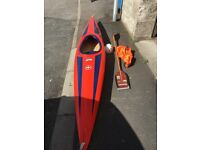 13ft Kayak with spray deck,helmet and paddle