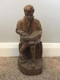 Wooden carving of Shakespeare