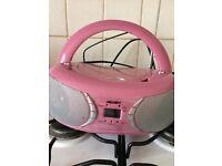 Pink BUSH cd/radio player