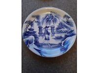 Blue & White Japanese Style Plate (person)