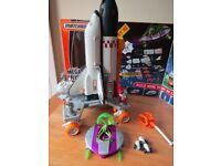 Matchbox Mega Rig Space Shuttle Mission Rocket Alien UFO Set