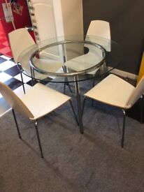 Ikea round glass table & 4 chairs