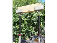 Cuplok scaffolding jacks and fork heads in very good condition