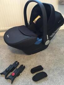 Silvercross car seat simplicity universal footmuff cushions surf 2 adaptors black