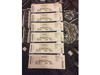 6 x Take that tour tickets Manchester 18th May. Can be bought in two's only no single ticket sale.