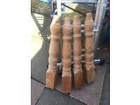 Solid pine farmhouse table legs x4 £30 obo