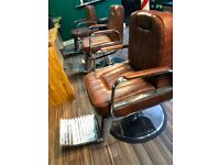 As new barbers chairs