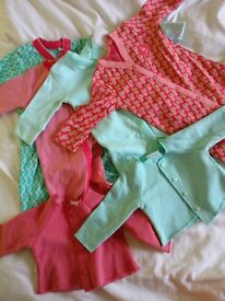 Bnwt next girls sleepsuits 0-3 months with matching cardigans