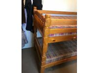 BUNK BED, solid wood bulit to last life time