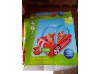 Children's outdoor car racer pool