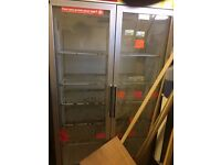 DOUBLE DOOR BEER/DRINK FRIDGE NEED TO BE GONE QUICKLY OPEN TO OFFERS GOOD CONDITON WORKING