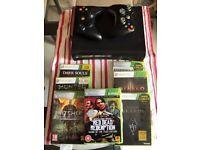 Xbox 360 Elite w/ 2 controllers and 7 games (EU power plug)