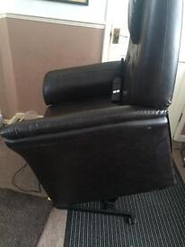 Electric reclining and stand up chair