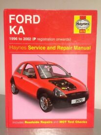 FORD KA HAYNES CAR MANUAL 1996 - 2002 P REGISTRATION ONWARD IN GREAT CONDITION HARDLY USED