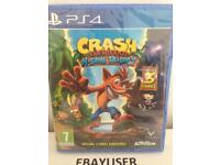 New & Sealed Crash Bandicoot N'Sane Trilogy - Sony PS4 Game