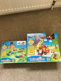 Vtech Toot Toot Big Fire Engine and Deluxe Track Set New