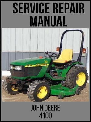 John Deere 4100 Compact Utility Tractor Service Technical Manual Tm1630 Usb
