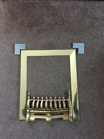 Gold magnetic 3 piece trim and fret (to fit gasfire internal measurement of 16inches x 21.5 inches.