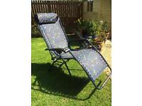 Pair of Reclining Garden Chairs