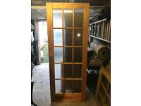 Pine Glazed door - Great condition - CAN DELIVER- £15