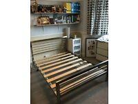 Next ) Brass steel double bed frame ( heavy duty )