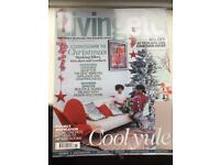 LIVING ETC MAGAZINES. 12 ISSUES. JAN - DEC 2013