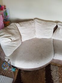 3 seater lounger fabric sofa