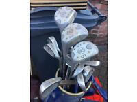 Right handed Pinseeker golf clubs