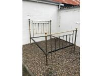 Victorian brass bed frame