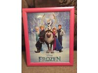 Frozen hanging picture frame