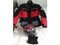 Motorcycle Jacket & Helmet for sale