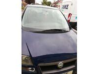 Fiat ulysse blue 7 seater with sliding doors 2005 mot till july 2019