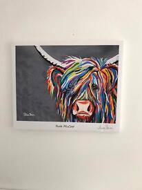 Steven Brown Cow Canvas