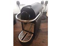 Black Nespresso Pixi with Aeroccino 3 Frother