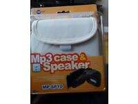 Mp3 Case and Portable Speaker-brand new