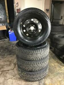 245 65R 17 COOPER WEATHER WINTER SNOW TIRES & RIMS FORD EDGE EXPLORER 5X114.3 BOLT IN EXCELLENT CONDITION