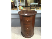 Modern Hardwood Cylindrical Chest , in good condition. Size Diameter 16in height 25in.