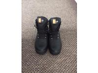 Steel toe cap boots size 8