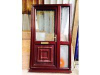 Exterior front pvc door & side screen