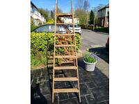 Vintage wooden step Ladders 7 feet