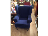 Wingback Style Armchair - free local delivery, great colour feel free to view In good condition.