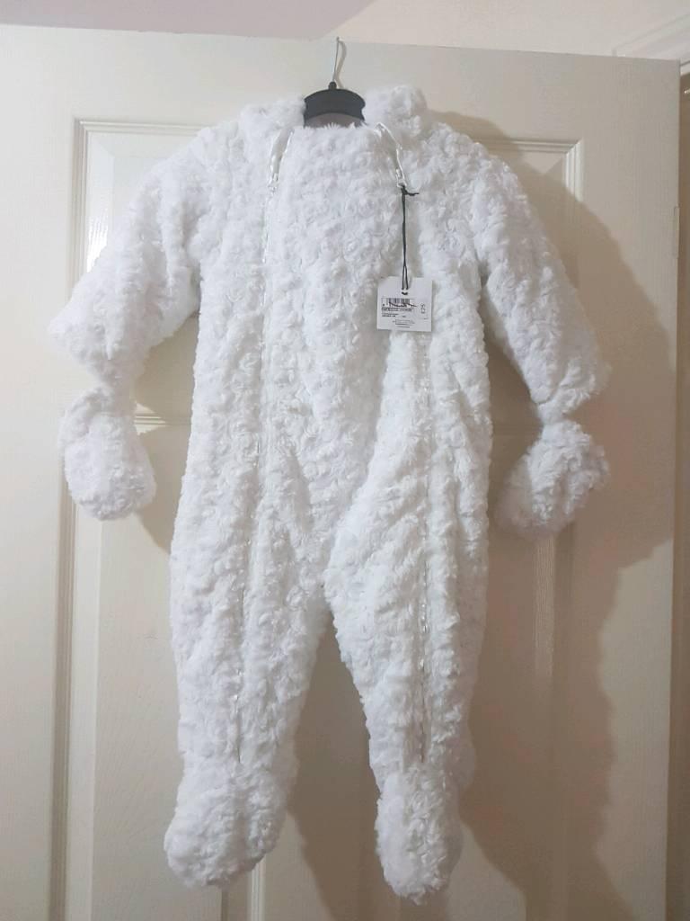 Brand new fleece snowsuit age 9-12months