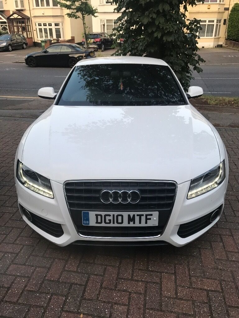 Beautiful white Audi A5 S Line 2 doors coupe