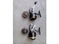 Two Mitchell 301s fishing reels