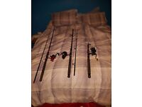 3 fishing rods for sale