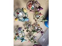 Gisela Graham bird cage tea light holders