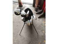 Used Dunlop golf clubs with bag