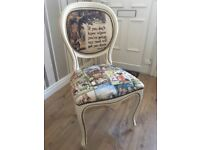 Alice in wonderland dressing table chair